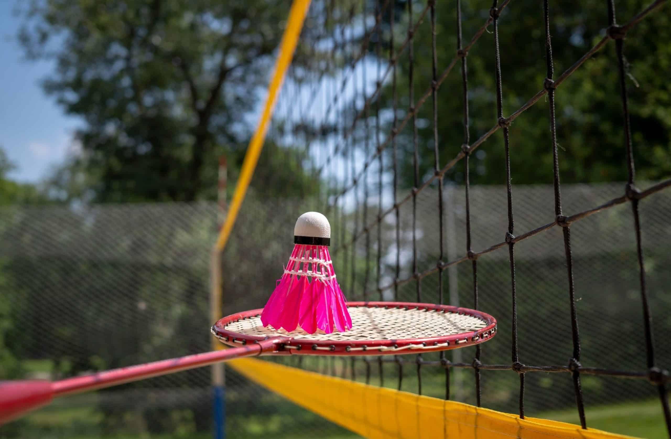 Badminton racket & shuttlecock by portable badminton net set