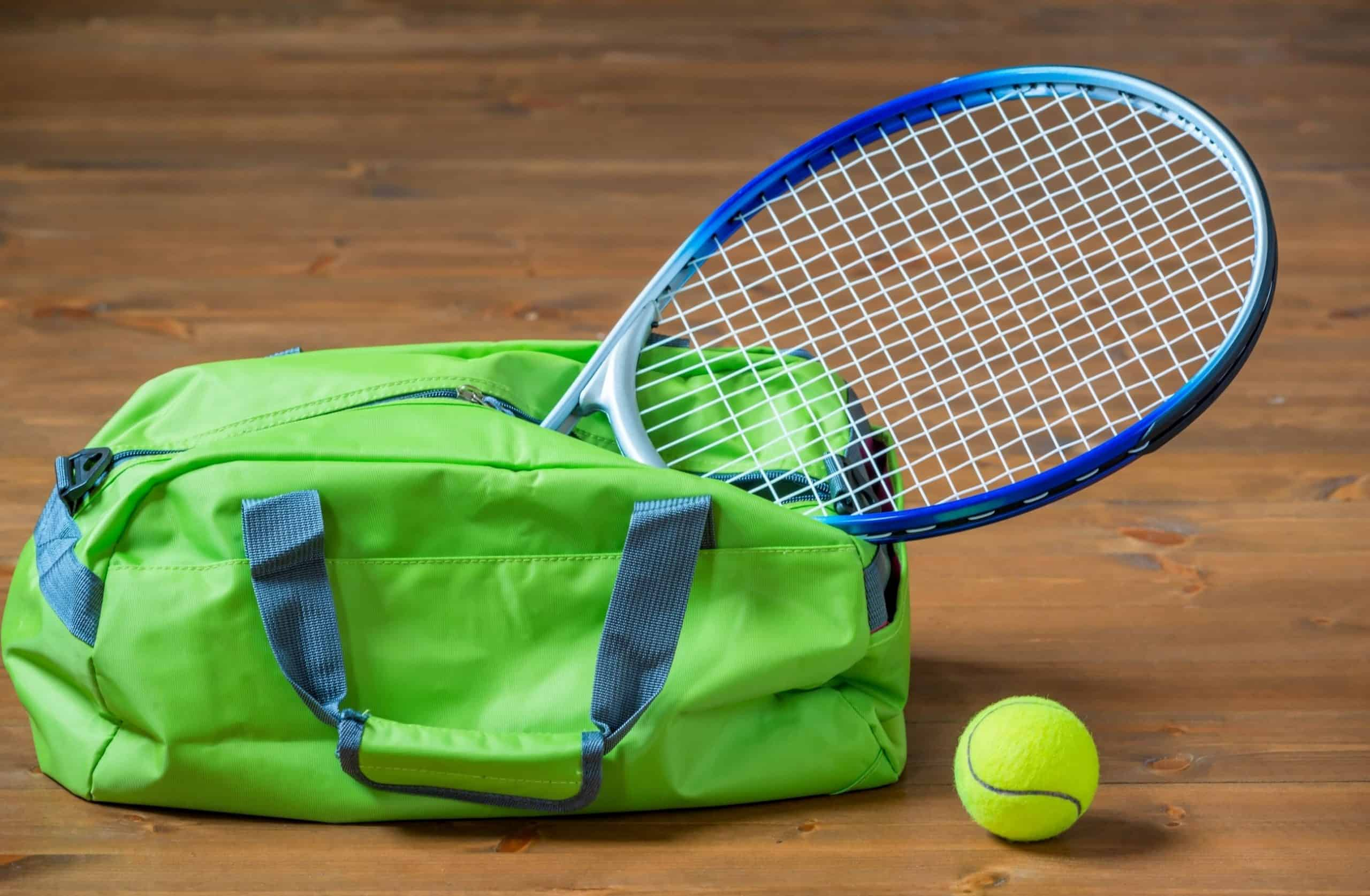 Tennis Racket Bag with tennis racquet & tennis ball