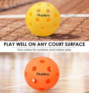 niupipo indoor and outdoor pickleball balls